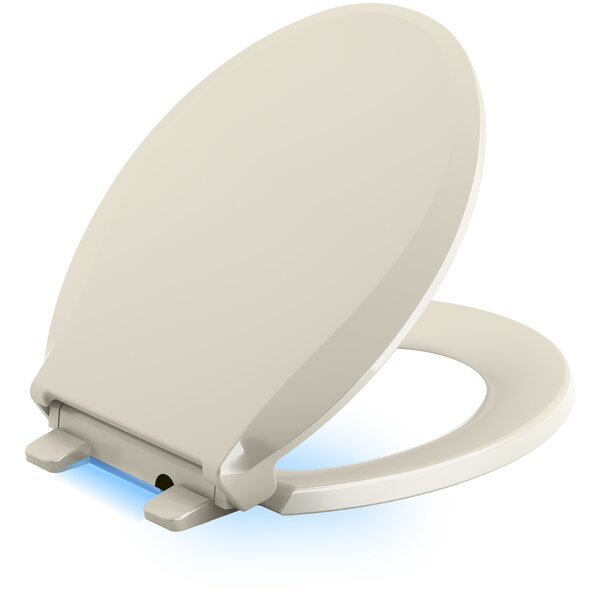 Cachet Quiet Close with Grip-Tight Round Front Toilet Seat by Kohler