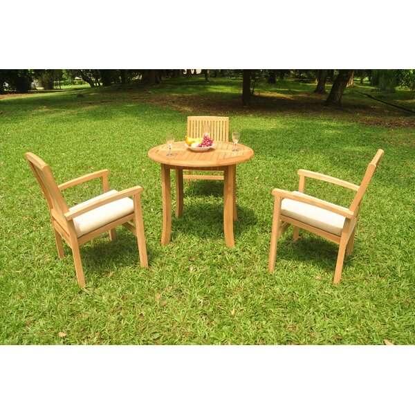 Newhall 4 Piece Teak Dining Set by Rosecliff Heights