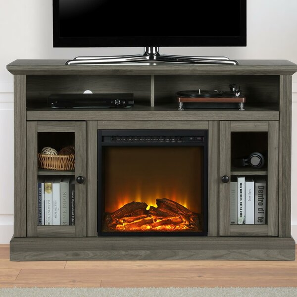 Compare Tucci TV Stand for TVs up to 50 with Electric Fireplace Included by Darby Home Co