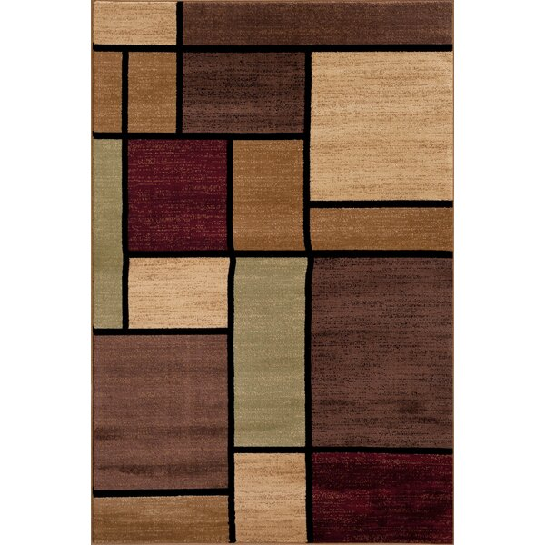 Waconia Brown/Beige Area Rug by Andover Mills