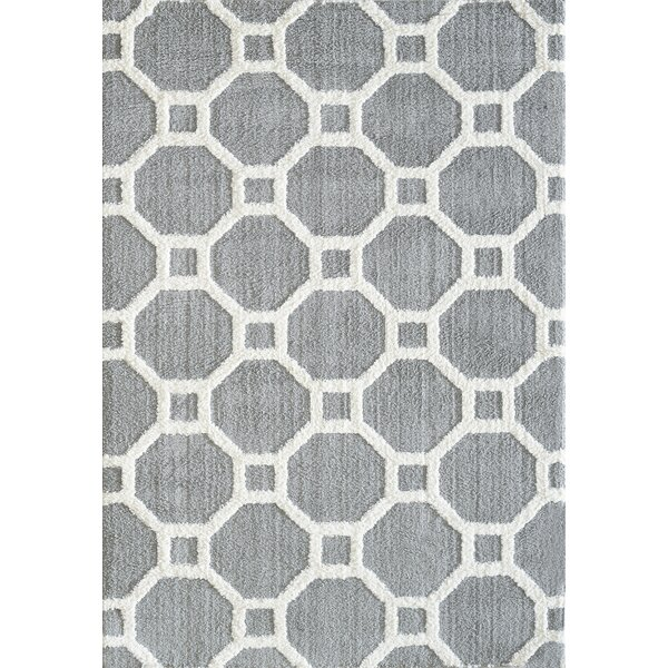 Kempf Silver/White Area Rug by Mercer41