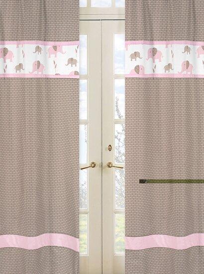 Elephant Rod Pocket Curtain Panels (Set of 2) by Sweet Jojo Designs