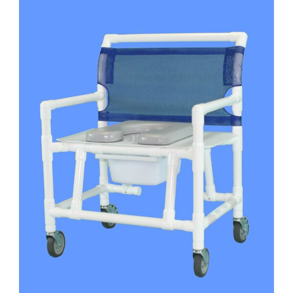 Bariatric Commode Soft Seat Shower Chair by Care P