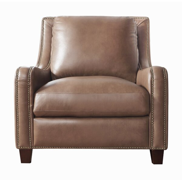 Davon Top Grain Leather Club Chair by 17 Stories