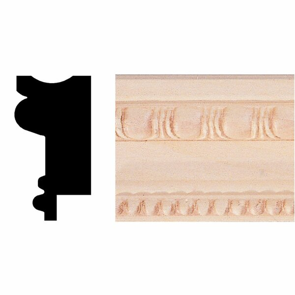 3/4 in. x 1-1/2 in. x 8 ft. Basswood Chair Rail/Wainscot Cap/Picture Frame Moulding by Manor House