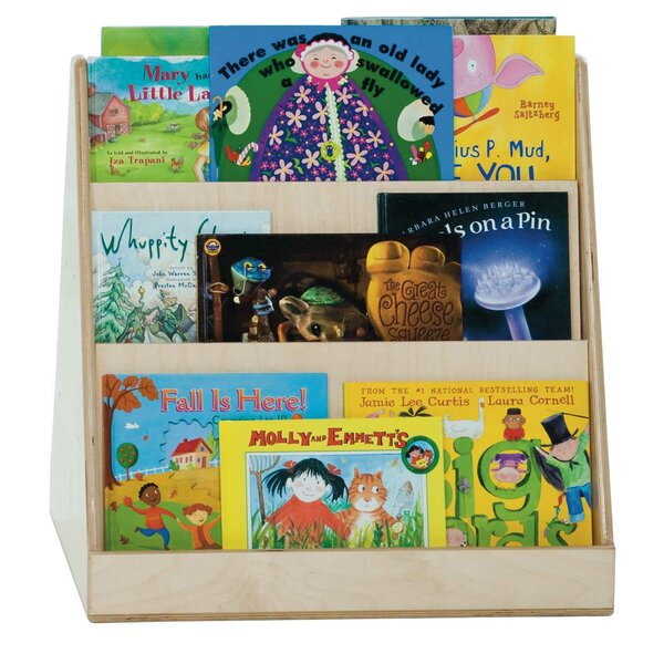 Healthy Kids Double Sided 6 Compartment Book Display by Wood Designs