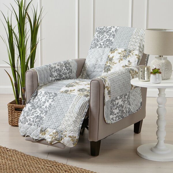 Patchwork Scalloped Printed Box Cushion Recliner Slipcover By Winston Porter