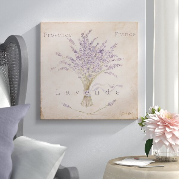 Lavende Panel Painting Print on Wrapped Canvas by
