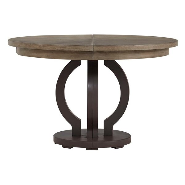 Virage Extendable Solid Wood Dining Table by Stanley Furniture