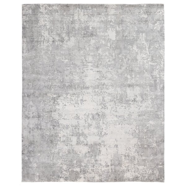 Vermont Hand Knotted Wool/Silk Gray Rug