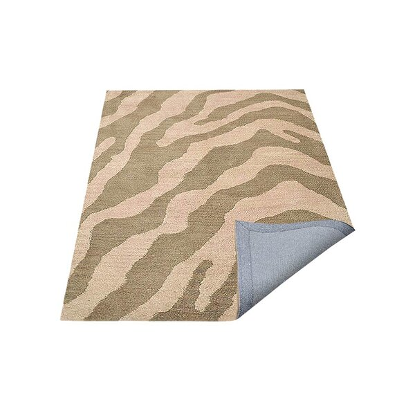 Hetzel Hand-Tufted Wool/Cotton Beige/Brown Area Rug by Bloomsbury Market