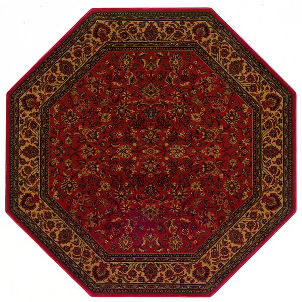 Chivers Yellow/Crimson Area Rug by Astoria Grand