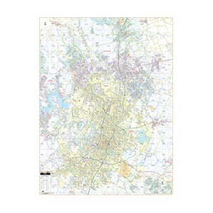 Wall maps youll love wayfair laminated ra austin tx wall map sciox Gallery