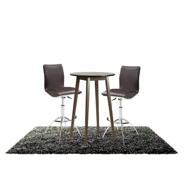 Tavarez 3 Piece Adjustable Pub Table Set by Ebern Designs