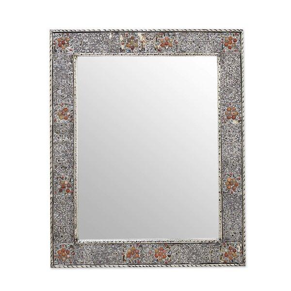 Celebration Repoussé Accent Mirror by Novica