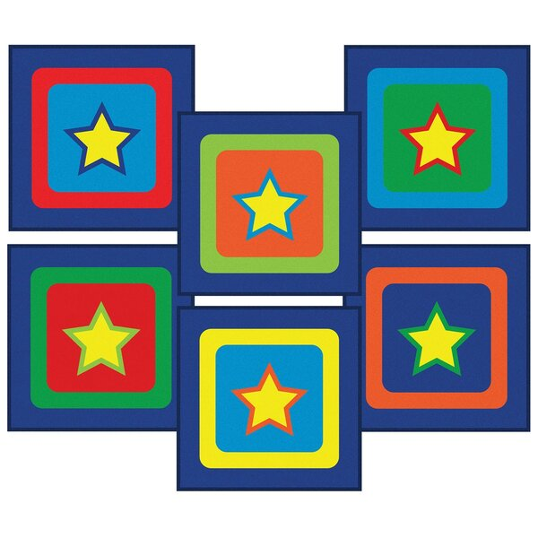 Alvarado Sitting Stars Blue Area Rug by Zoomie Kids