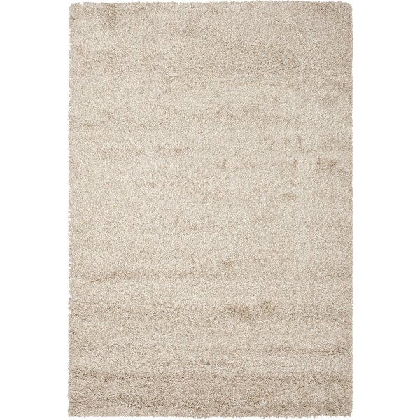 Rowen Power Loom Beige Area Rug by Wade Logan