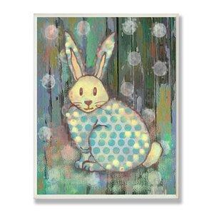 Stella Distressed Woodland Rabbit Wall Plaque