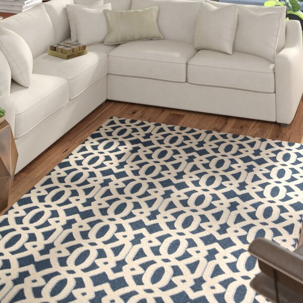 Tabris Navy/White Area Rug by Mercury Row