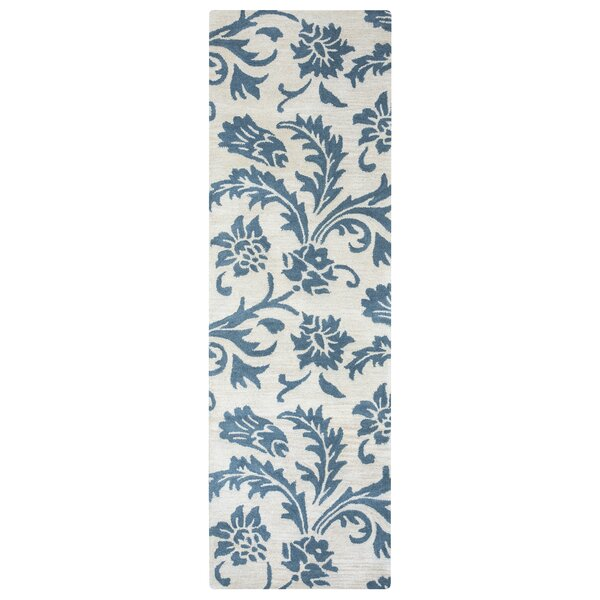 Ostrander Hand-Tufted Blue/Beige Area Rug by One Allium Way