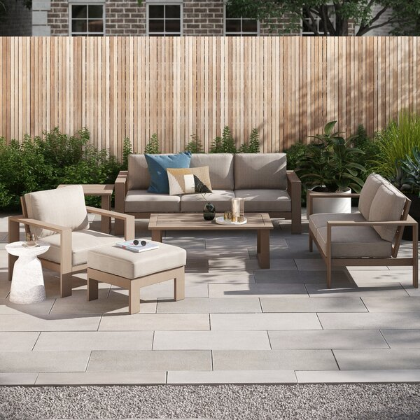 Daly 6 Piece Sofa Seating Group with Cushions by Foundstone