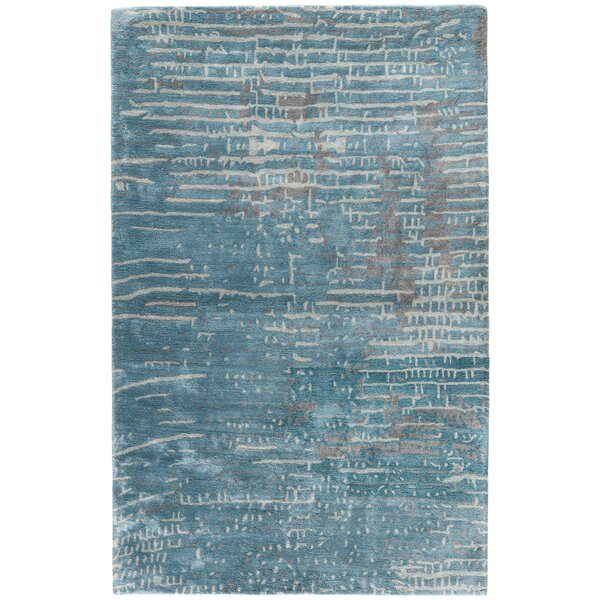 Elisha Hand-Tufted Blue/Taupe Area Rug by Williston Forge