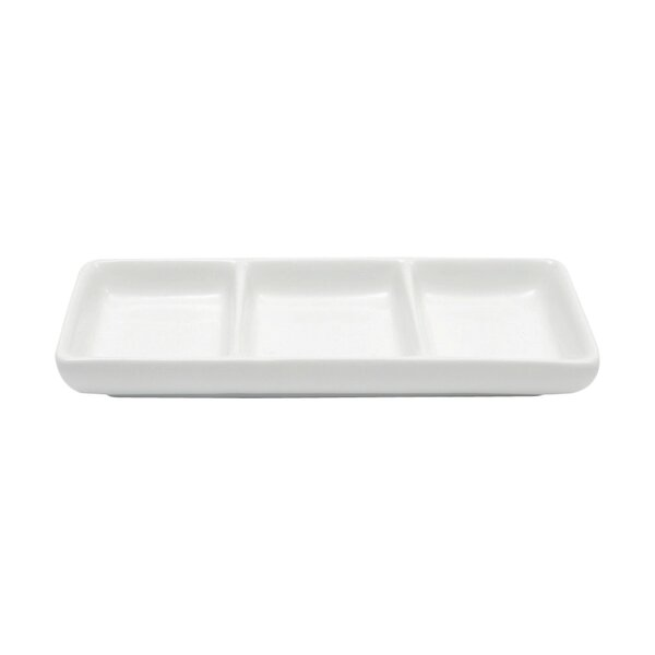 White Basics Divided Serving Dish (Set of 6) by Maxwell & Williams