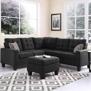 Pawnee Modular Sectional with Ottoman : sectional sofa black - Sectionals, Sofas & Couches