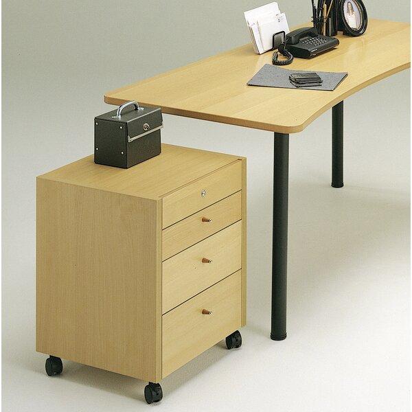 4-Drawer Mobile Vertical Filing Cabinet
