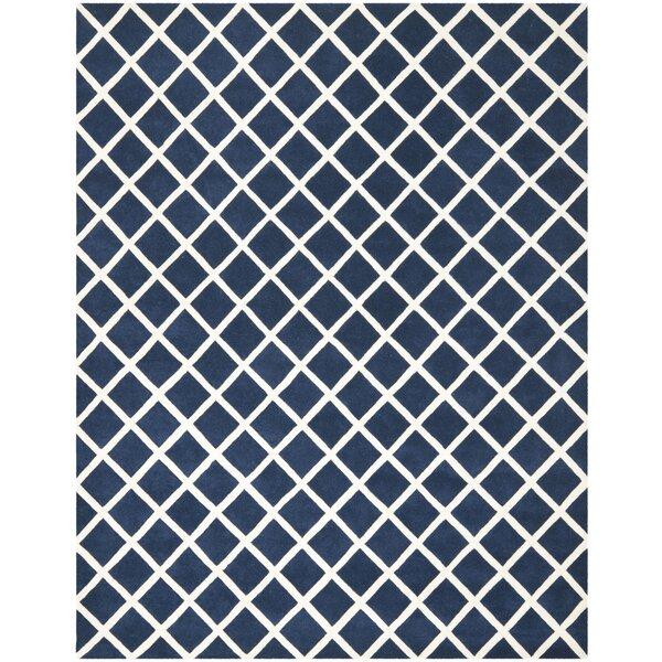 Wilkin Dark Blue / Ivory Rug by Wrought Studio