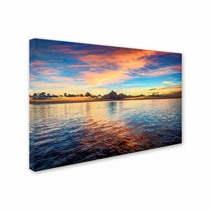 Carribean Sunset by David Ayash Photographic Print on Wrapped Canvas by Trademark Fine Art