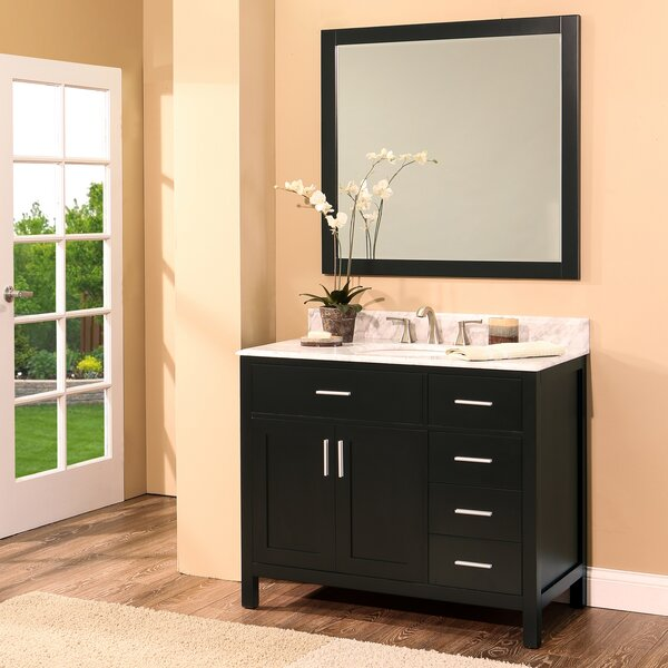 Arezzo 36 Single Bathroom Vanity with Mirror by NGY Stone & Cabinet