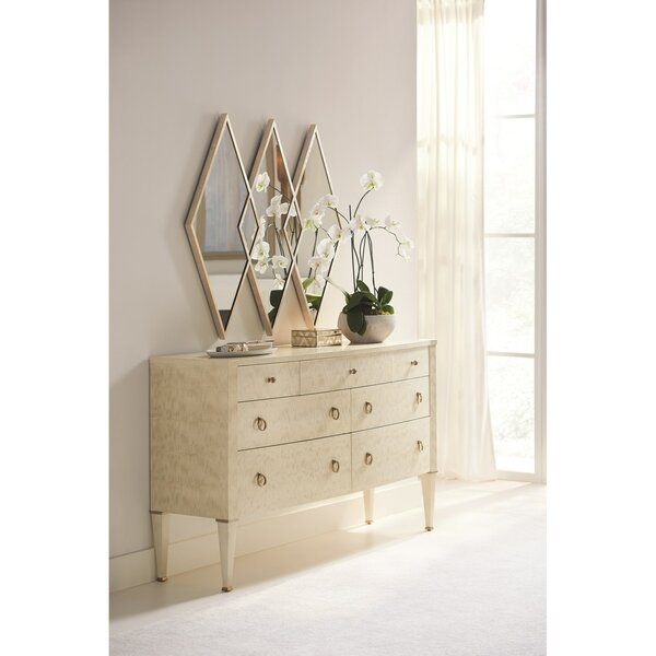 Caracole 7 Drawer Dresser with Mirror by Caracole Classic