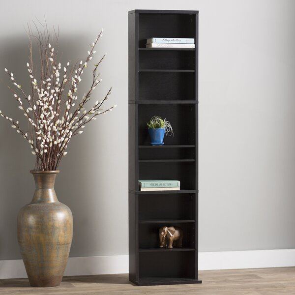 Traditional Wood Multimedia Wall Mounted Storage Rack By Andover Mills