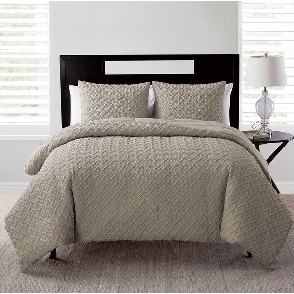 Oliver Embossed Down Alt 3 Piece Comforter Set by Trent Austin Design