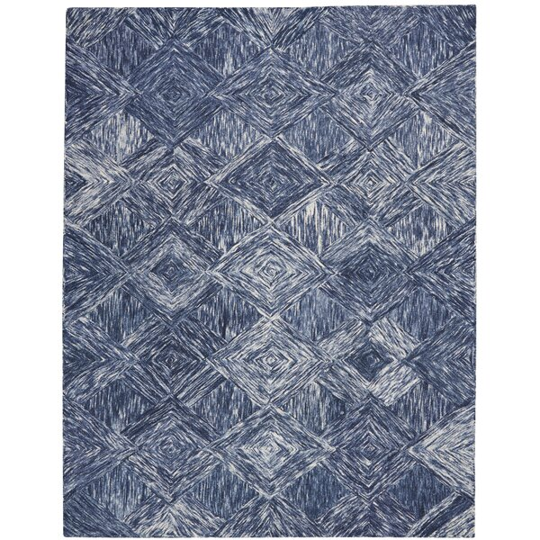 Divernon Hand-Woven Wool Denim Area Rug by Ivy Bronx