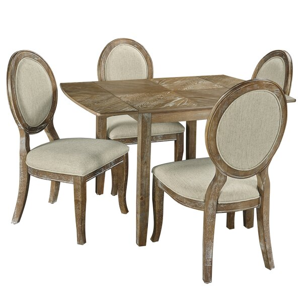 Braun 5 Piece Drop Leaf Dining Set by Ophelia & Co.