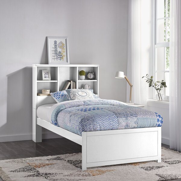 Body Caspian Twin Platform Bed With Bookcase By Harriet Bee