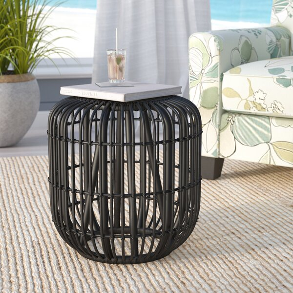 Adaline Rattan Accent Stool by Beachcrest Home