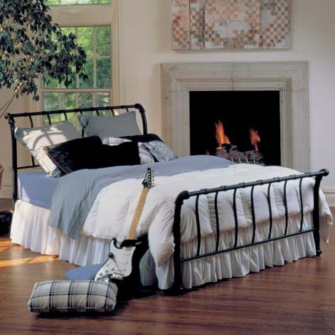 Riccardi Sleigh Bed by Gracie Oaks