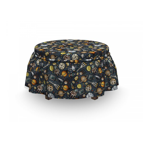 Outer Space Ottoman Slipcover (Set Of 2) By East Urban Home