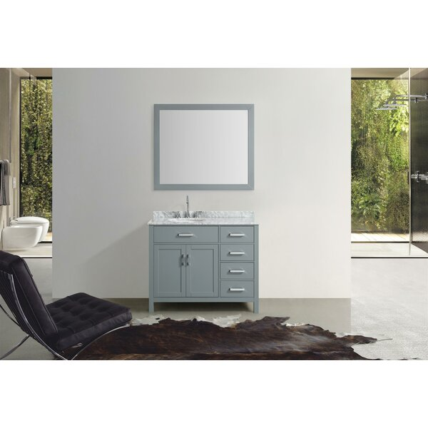 Weatherford 43 Single Bathroom Vanity Set with Mirror by Orren Ellis