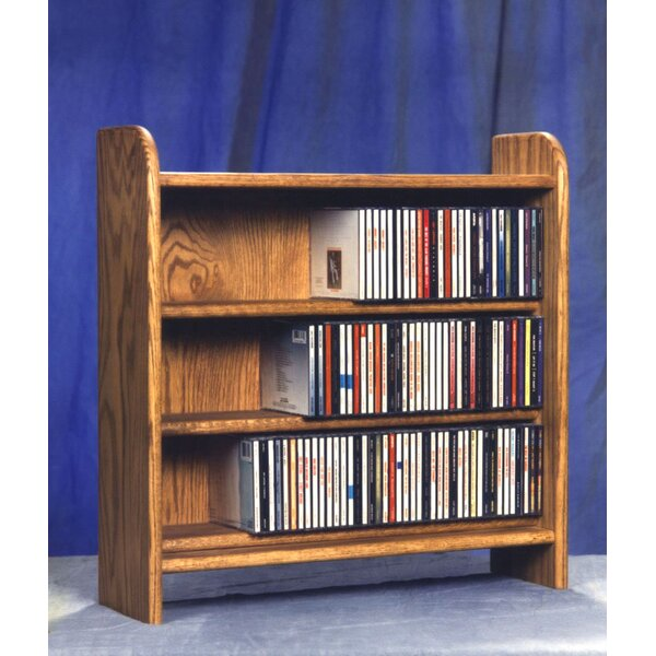 300 Series 165 CD Multimedia Tabletop Storage Rack by Wood Shed