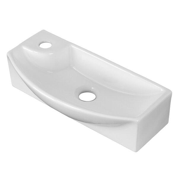 Ceramic 18 Wall Mount Bathroom Sink by Royal Purple Bath Kitchen
