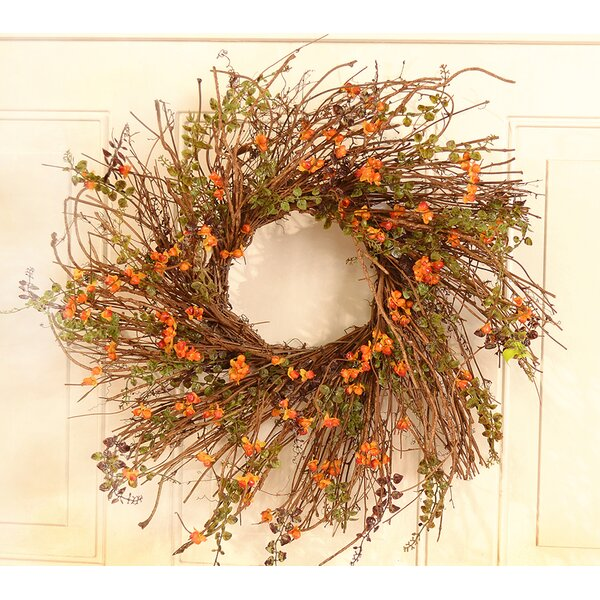 24 Bittersweet Berry Wreath by Floral Home Decor