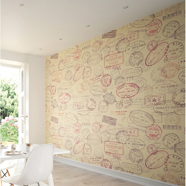 Par Avion Wall Mural by Brewster Home Fashions