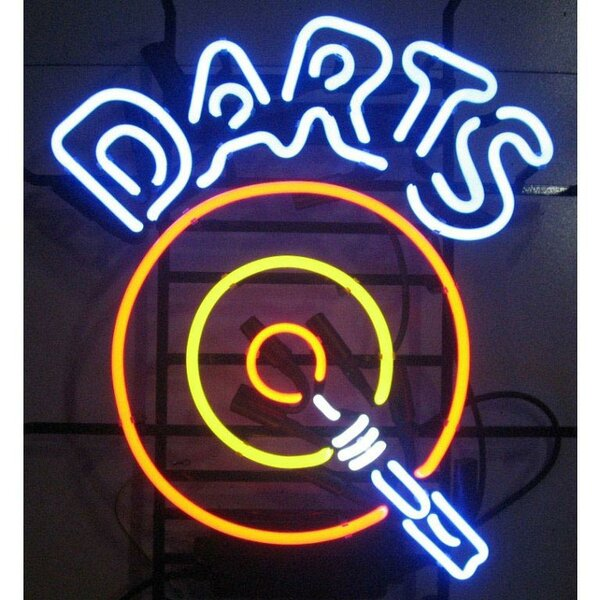 Bar & Game Room Darts Neon Sign by Neonetics