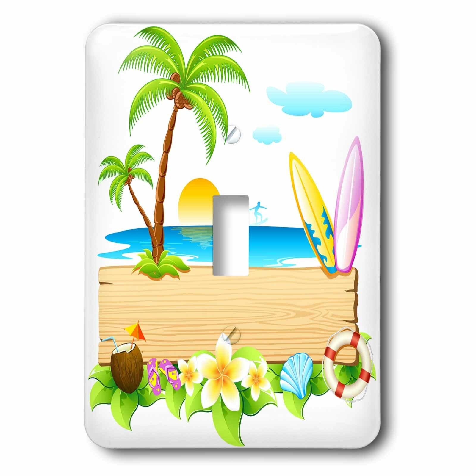3drose Tropical Beach Scene 1 Gang Toggle Light Switch Wall Plate Wayfair