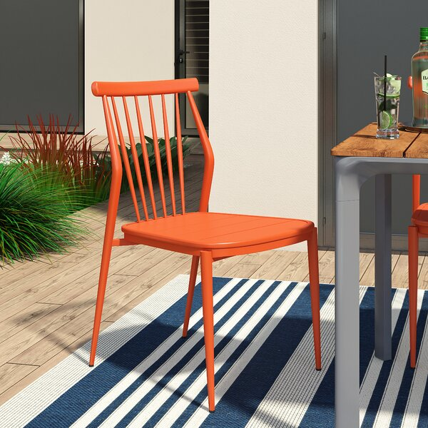 Chmura Armless Stacking Patio Dining Chair by Brayden Studio