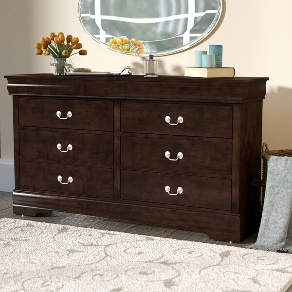 Polegate 6 Drawer Double Dresser by Alcott Hill